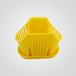 Ociekacz na sztućce żółty