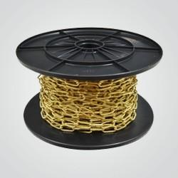 Łańcuch żyrandolowy kwadratowy Stahl 2 mm mosiądz 1 mb