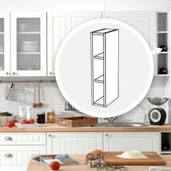 Szafka kuchenna wisząca otwarta z półkami Piano Biały WO-15