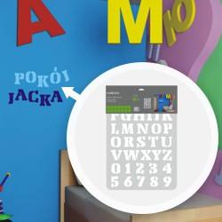 Szablon Colours XXL alphabet 28