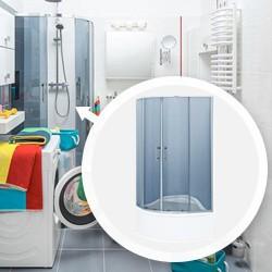 Kabina prysznicowa Durasan Palermo wysoki brodzik 90 cm grafit/chrom