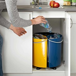 Kosz obrotowy do segregacji odpadów Ecobin 3 x 11,7 l