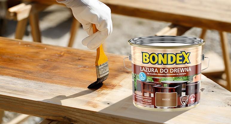 Lazura do drewna Bondex Makasar 7813 2,5 l
