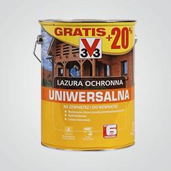 Lazura ochronna V33 6 lat mahoń 5 l + 20% gratis