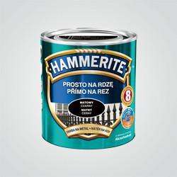 Farba do metalu Hammerite Prosto Na Rdzę matowy czarny 0,25 l