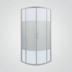 Kabina prysznicowa półokrągła Cooke&Lewis Onega 90 cm biały/wzór