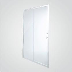 Drzwi prysznicowe przesuwne Cooke&Lewis Onega 120 cm chrom/transparentne