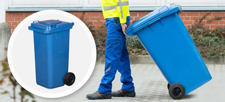 Pojemnik na odpady 120 l niebieski