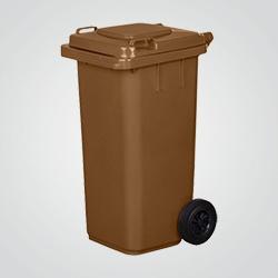 Pojemnik na odpady 120 l brązowy