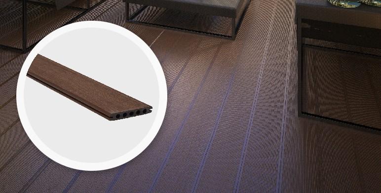 Deska tarasowa kompozytowa Blooma 22 x 127 x 2400 mm brązowa