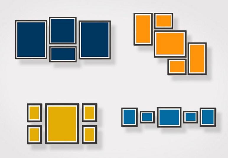 Podstawowe kompozycje ram do zdjęć