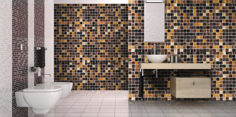 Mozaika szklana Colours 32,7 x 32,7 cm złota