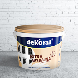Farba Dekoral Polinit biała, wewnętrzna-zewnętrzna