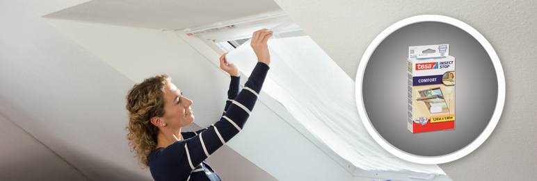 Moskitiera na okno / dach Tesa Comfort 120 x 140 cm biała