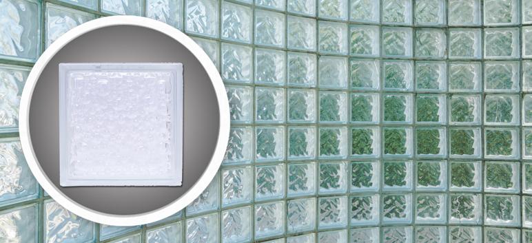 Pustak szklany bezbarwny Krople 19 x 19 x 8 cm