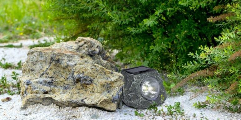 Lampa solarna imitująca kamień 1 x LED