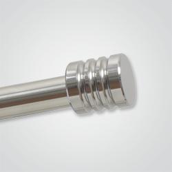 Końcówka karnisza 3 frezy 16 mm inox polerowany