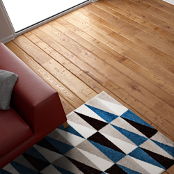 Dywan Colours Eirene 120 x 170 cm niebieski/brązowy