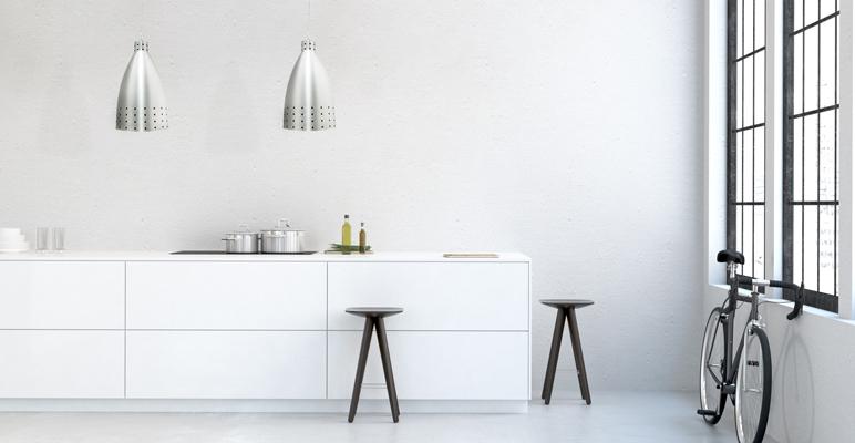Lampa wisząca Colours Kitchen 1 x 60 W E27 aluminium / czerwona