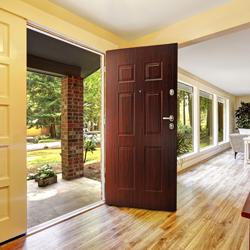 Drzwi wejściowe Six do wewnątrz 90 cm prawe orzech