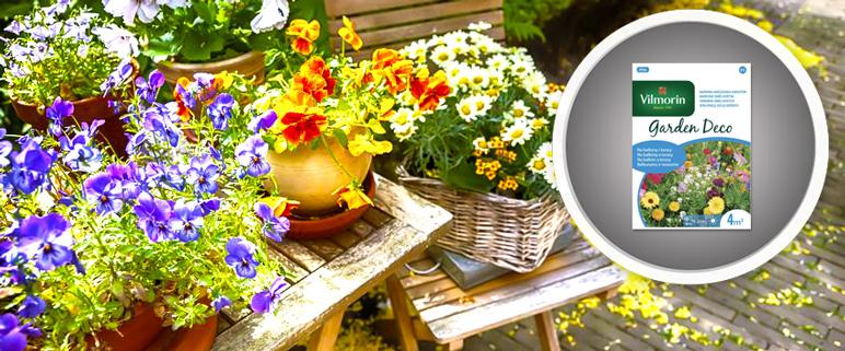 Na balkony i tarasy mix kwiatów