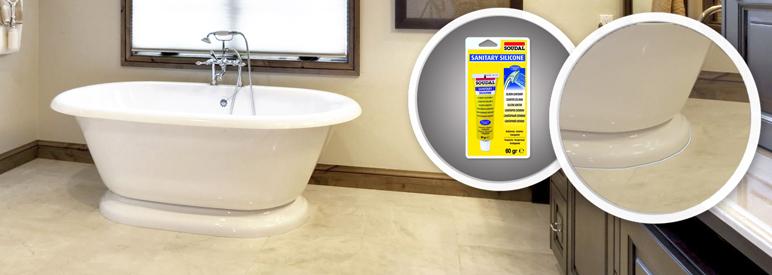 Silikon sanitarny Soudal 60 g bezbarwny