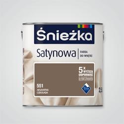 Farba Śnieżka Satynowa aksamitna czekolada 2,5 l
