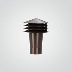 Wywietrznik grawitacyjny fi 75 mm brązowy