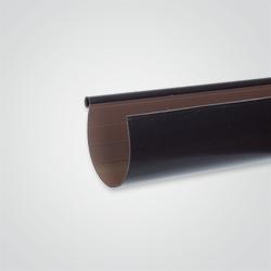 Rynna PCV ryflowana Scala Plastics Coex 125 mm brązowa 3 m