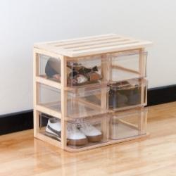 szafka na buty ze skrzynek