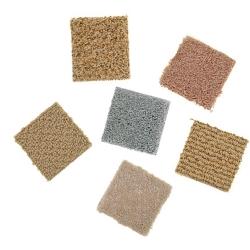 różne rodzaje włókien w wykładzinach dywanowych