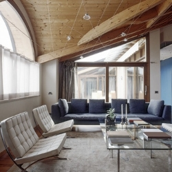 futurystyczny salon