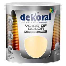 Farba Dekoral Voice of Color miodowy pastelowy 2,5 l