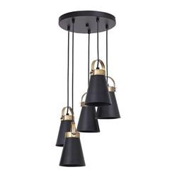 Lampa wisząca Atos 5 x 60 W E27 czarny / mosiądz