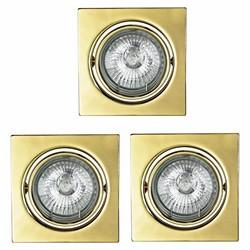 Oprawy oczkowe ruchome kwadratowe ANS-Lighting 3 x 50 W GU10 złoty