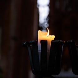 świecznik z lampy