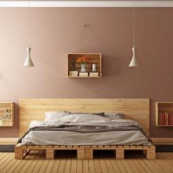 łóżko z europalety