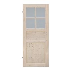 Drzwi łazienkowe Radex Oslo 90 lewe świerk surowy szkło hartowane