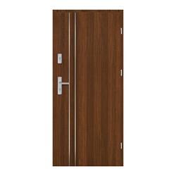 Drzwi wejściowe wewnątrzklatkowe Alderan Lux 80 prawe orzech north