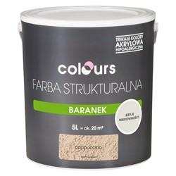 Farba strukturalna Colours Baranek cappucino 5 l