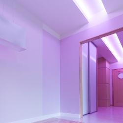 neonowy wystrój mieszkania
