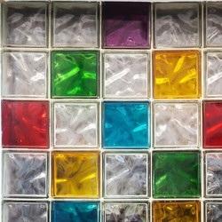kolorowe pustaki szklane